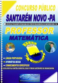 Apostila Impressa Concurso Público Prefeitura de Santarém Novo - PA 2021 Professor de Matemática