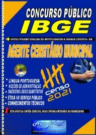 Apostila Impressa concurso do IBGE em PDF 2021 - AGENTE CENSITÁRIO MUNICIPAL (ACM)