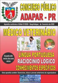 Apostila impressa Concurso Público Adapar - PR 2020 Médico Veterinário