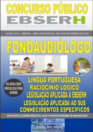 Apostila Impressa Concurso EBSERH - 2019 Fonoaudiólogo