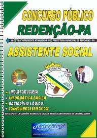 Apostila Impressa Concurso Público Prefeitura de Redenção - PA 2020 Assistente Social