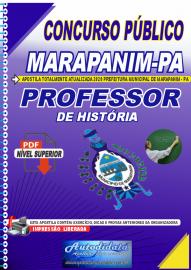 Apostila Digital Concurso Público Prefeitura de Marapanim - PA 2020 Professor de História