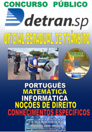 Apostila Impressa Concurso DETRAN - SP -  2019 - Oficial Estadual De Trânsito