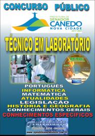 Apostila Impressa SENADOR CANEDO/GO 2020 - Assistente De Saúde/Técnico Em Laboratório