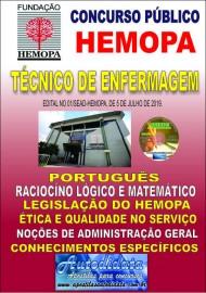 Apostila impressa concurso do HEMOPA 2019 - TÉCNICO DE ENFERMAGEM