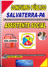 Apostila Digital Concurso Público Prefeitura de Salvaterra - PA  2020 Assistente Social