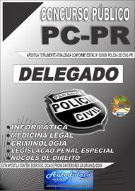 Apostila impressa Concurso Polícia Civil do Paraná 2020 Delegado de Polícia Civil