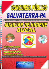 Apostila Impressa Concurso Público Prefeitura de Salvaterra - PA  2020 Auxiliar de Higiene Bucal