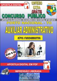 Apostila Digital Concurso da Prefeitura de Porto Nacional - TO – 2019 -Auxiliar Administrativo