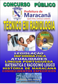 Apostila Impressa Concurso de Maracanã/Pa 2019 – Técnico Em Radiologia