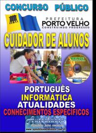Apostila Impressa Concurso de PORTO VELHO/RO 2019 – Cuidador De Alunos