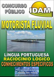 Apostila Impressa Concurso IDAM - AM 2018 - Motorista Fluvial