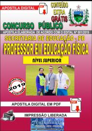 Apostila Digital Concurso SEECT/PB - 2019 - Professor De Educação Física