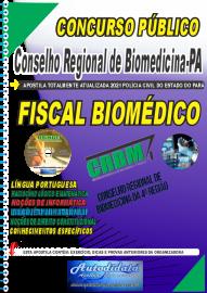 Apostila impressa Concurso CRBM -CONSELHO REGIONAL DE BIOMEDICINA - 4ª REGIÃO 2021 - FISCAL BIOMÉDICO