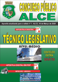 Apostila Digital Concurso Público da Assembleia Legislativa do Ceará - 2020 Técnico Legislativo