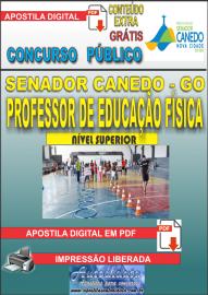 Apostila Digital SENADOR CANEDO/GO 2020 - Professor De Educação Física