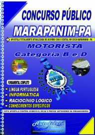 Apostila Impressa Concurso Público Prefeitura de Marapanim - PA 2020 Motorista