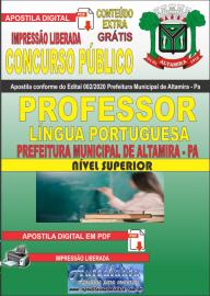 Apostila Digital Concurso Público Prefeitura de Altamira 2020 Área Professor de Língua Portuguesa