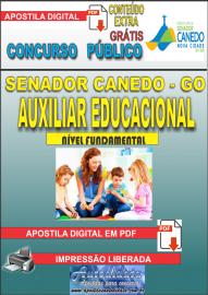 Apostila Digital SENADOR CANEDO/GO 2020 - Auxiliar Educacional