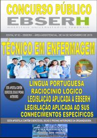 Apostila Impressa Concurso EBSERH - 2019 Técnico em Enfermagem