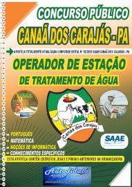 Apostila Impressa Concurso Público SAAE/Canaã dos Carajás - PA 2020 Operador de Estação de Tratamento de Água