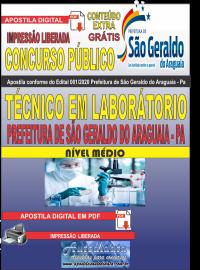 Apostila Digital Concurso Público Prefeitura Municipal de São Geraldo do Araguaia - PA 2020 Técnico em Laboratório
