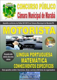 Apostila impressa concurso público Câmara Municipal de Marabá - Pa 2020 Nível Fundamental Motorista