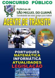 Apostila Impressa Concurso SÃO MIGUEL DO GUAMÁ/PA - 2019 - Agente Municipal De Trânsito