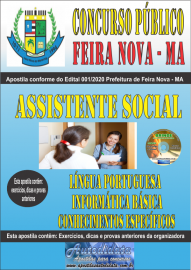 Apostila Impressa Concurso Público Prefeitura de Feira Nova - MA 2020 Área Assistente social