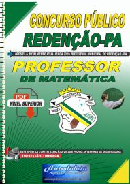 Apostila Digital Concurso Público Prefeitura de Redenção - PA 2020 Professor de Matemática