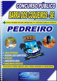Apostila Impressa Concurso Público Barra dos Coqueiros - SE 2020 Pedreiro