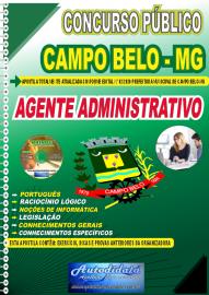 Apostila Impressa Concurso Público Prefeitura de Campo Belo - MG 2020 Agente Administrativo