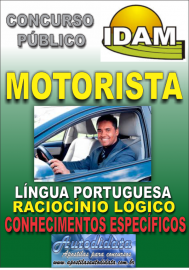 Apostila Impressa Concurso IDAM - AM 2018 - Motorista