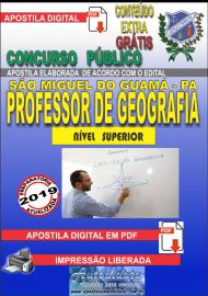 Apostila Digital concurso SÃO MIGUEL DO GUAMÁ/PA 2019 – Professor De Geografia
