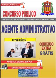 Apostila Digital Concurso Universidade do Estado do Pará - UEPA 2019 Agente Administrativo