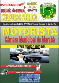 Apostila digital concurso público Câmara Municipal de Marabá - Pa 2020 Nível Fundamental Motorista