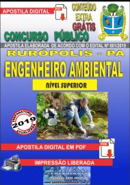Apostila Digital Concurso PREFEITURA MUNICIPAL DE RURÓPOLIS - PA - 2019 - Engenheiro Ambiental