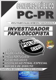 Apostila Impressa Concurso Polícia Civil do Paraná 2020 Investigador e Papiloscopista