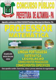 Apostila Impressa Concurso Público Prefeitura Altamira 2020 Área Professor de Matemática