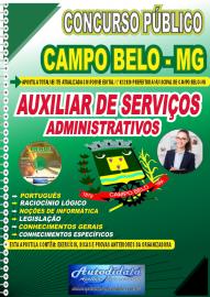 Apostila Impressa Concurso Público Prefeitura de Campo Belo - MG 2020 Auxiliar de Serviços Administrativos