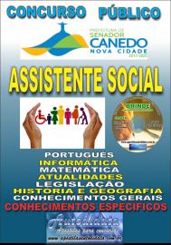 Apostila Impressa SENADOR CANEDO/GO 2020 - Analista De Saúde/Assistente Social