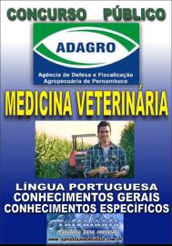 Apostila Impressa Concurso ADAGRO - PE - 2018 - Fiscal Estadual Agropecuário Médico Veterinário