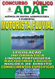 Apostila Impressa Concurso ADAF - AM - 2018 - Motorista Fluvial