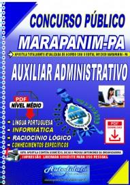 Apostila digital concurso Marapanim - PA 2020 AUXILIAR ADMINISTRATIVO
