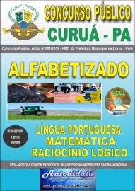 Apostila Impressa Concurso Público Prefeitura Municipal de Curuá - Pará 2019 Nível Alfabetizado