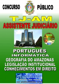 Apostila impressa TJ-AM 2019 - Tribunal de Justiça do Amazonas - Assistente Judiciário