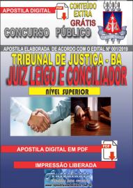 Apostila Digital Concurso TRIBUNAL DE JUSTIÇA DO ESTADO DA BAHIA - 2019 - Conciliador E Juiz Leigo