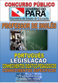 Apostila impressa Concurso SEDUC-PA 2018 - Professor de Inglês