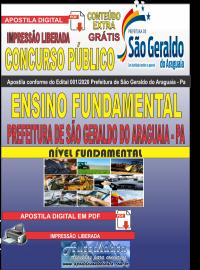 Apostila Digital Concurso Público Prefeitura Municipal de São Geraldo do Araguaia - PA 2020 Ensino Fundamental