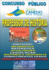 Apostila Impressa SENADOR CANEDO/GO 2020 - Professor De História